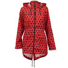 Hood Polka Dot Regular Size Coats & Jackets for Women