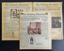 The Cowboy Chronicle Newspaper 3 Issues 1990s Single Action Shooting Society