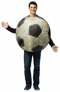 ADULT GET REAL SOCCER BALL SPORTS COSTUME TUNIC GC6819