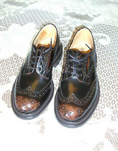 Tricker's Bourton Brogue Shoes.  Brown and tan.  Size UK 7.5  New in box.
