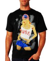 "Hustler Men T-shirt ""Damn Proud"" -- Color Black"