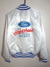 ford jacket mens vtg the heartbreak of todays chevrolet usa nylon satin medium
