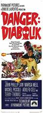 DANGER: DIABOLIK Movie POSTER 14x36 Insert John Phillip Law Marisa Mell Michel