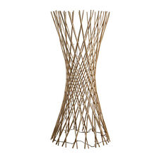 Contemporary Light Wood Twisted Lattice LED Floor Lamp Fairy String Lights Twig