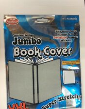"New Premiun Edition Jumbo Book Cover XXL Super Stretchy fit 10"" x 15"" - Grey"