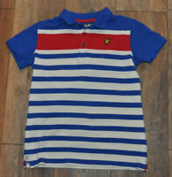 Lyle & Scott Boys Blue Polo Shirt Casual Top Collar Kids 10-11 Years