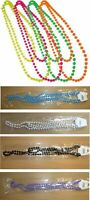 Fancy Dress Neon plastic Beads long Necklace 70's & 80's theme, costume