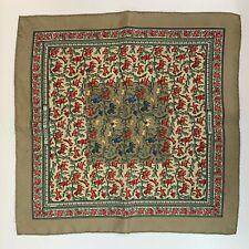 "Hermes Petit Silk Scarf Neckerchief Pocket Square Chasse en Inde  16"" 41cm boxed"