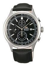 ORIENT FTT0V003B0 Herrenuhr Chronograph Aviator Leder