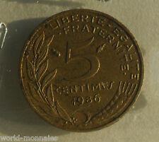5 centimes marianne 1986 : B : pièce de monnaie française