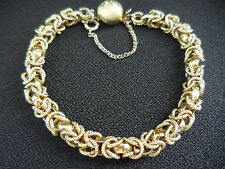 Vintage Gold Twisted Statement Costume Bracelet 7 inches