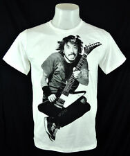 Dave Grohl Punk Rock guitar jumping FF White 100% cotton T-Shirt Tee Size L