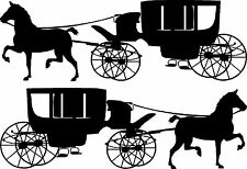 """Horse &  Carriage Vinyl Decals for Truck (24"""" x 8"""")"""