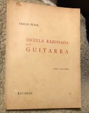 rare 1952 Spanish classical guitar music book 137 pages