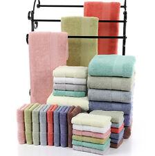 FUCSIA 3 Piezas Baño Paño Juego de toallas algodón suave 500 GRAMOS 12 COLORES
