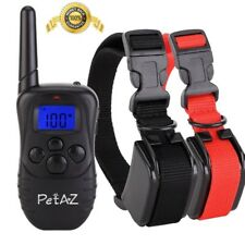 Training Collar Electric Dog Shock Collars Remote Rainproof Beep Vibration New