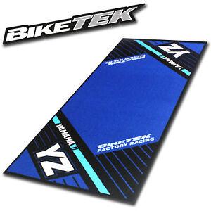 BikeTek Werkstatt Matte Motorrad Teppich Yamaha S6 YZ Showroom Garage Wohnung