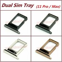 Lot OEM Dual Sim Card SD Card Tray Slot Holder For iPhone 11 Pro / 11 Pro Max