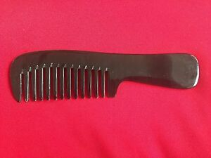 "7.60"" STURDY BLACK WIDE TOOTHED OX HORN OX HORN COMB - FOR THICK HAIR! NEW!!"