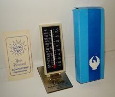 Vtg 1960's MAJENICA TILE Huntington Indiana Desktop Wall Advertising Thermometer