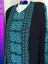 Traditional Palestinian Costume Embroidery Ethnic Palestine Blue Dress Thoub