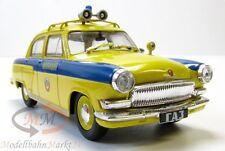 GAS-21R GAI Wolga Polizei gelb-blau mit Sirene UdSSR/Russland Scale 1:43 - OVP