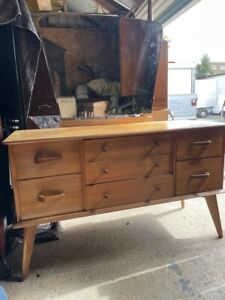 Mid Century Retro Dressing Table with 7 Draws / Vanity Table