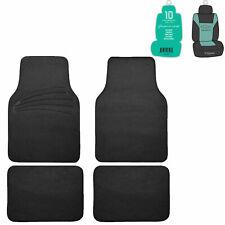 4pcs Full Carpet Floor Mats Universal Fit for Car SUV Black w/ Free Freshener