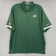 New listing New York Jets Nike Polo Shirt Short Sleeve NFL On Field Dri-Fit Golf Men's 2XL