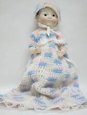 Baby Doll with Ceramic Head, Hands & Feet in Crocheted Dress