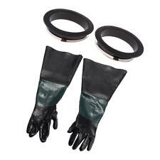 One Pair Heavy Duty Work Gloves for Sand Blast Cabinet Sandblasting Machine