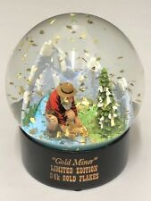 Snow Globe Gold Miner Collectable Limited Edition 24k Gold Flake Decor