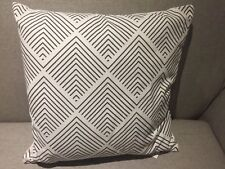4 x Homebase Modern Filled Cushion Pillow Throw Scatter Geometric White & Grey