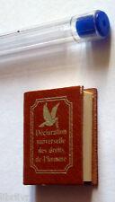 Livre minuscule  Mini livre La  déclaration universelle des droits de l'Homme