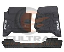 2014-2019 Silverado GM Front & Rear All Weather Floor Mats Black Z71 Logo