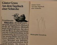 Günter Grass Buch book Original signed signiert autograph Signatur Autogramm