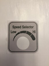Hobart Automatic Slicer 2912 6 Speed Control Sticker Label Decal