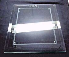 "Art Deco 13"" Beveled Petroleum Glass Panel Drq Door Sign 4 Screw Holes Antique"