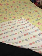POTTERY BARN KIDS SOPHIE BUTTERFLY Twin duvet Yellow Pink White Reversible