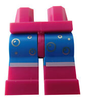 Lego Beine in purpur (magenta) Aufdruck Blasen Luftblasen blau 970c07pb12 Neu