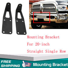 "20"" LED Light Bar Hidden Bumper Mount bracket For 2010-2014 Dodge Ram 2500/3500"