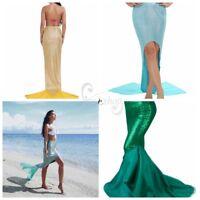 Women Mermaid Tail Bikini Cover Skirt Swimwear Beach Dress Party Fancy Costume