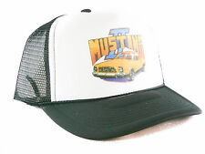 Vintage 1970's Ford Mustang 2 Trucker Hat mesh hat  snapback hat black