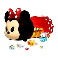 Disney Tsum Tsum Figure Characters With Minnie Mouse Portable Case Display Set