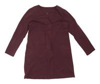 Massimo Dutti Womens Size M Cotton Blend Burgundy Dress (Regular)