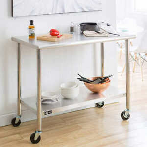 TRINITY Stainless Steel Prep Table