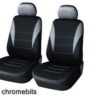 For Honda Civic CR-V ES Accord MPV GT Front Grey Black Fabric Seat Covers