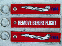 F - 104 Starfighter Jet BW Army   3er SET Remove Before Flight  /Avion / YakAir