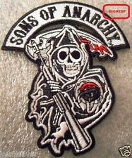 GRIM REAPER    SON OF ANARCHY    BIKER PATCH     SEW OR IRON