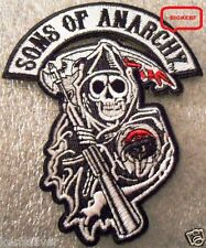 SONS OF ANARCHY  REAPER PATCH  JACKET  VEST  HAT  BIKER ROADGEAR  - IRON OR SEW